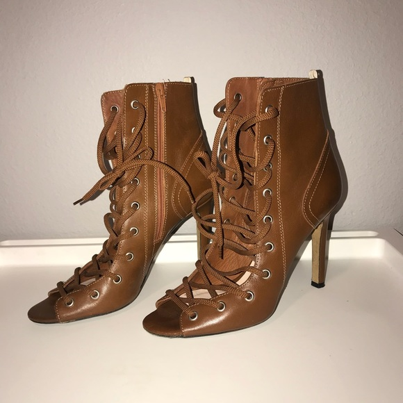 cheap sale marketable Sarah Jessica Parker Leather Lace-Up Boots buy cheap countdown package w88vFa2kT